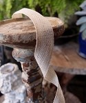 Ivory Linen/Cotton Ribbon 5/8