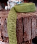Moss Linen/Cotton Ribbon 5/8