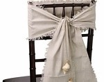 Linen Sash/Runner with Fringed Edge, 12.5 in x 120 in, 1 piece