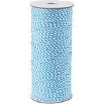 Aqua/White 16-Ply Bakers Twine, 250 yards