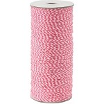 Pink/White 16-Ply Bakers Twine, 250 yards