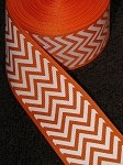 Orange Chevron Grosgrain Ribbon, 1-1/2