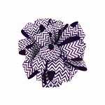Purple Chevron Grosgrain Ribbon, 1-1/2