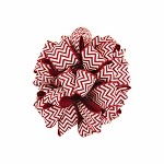 Red Chevron Grosgrain Ribbon, 1-1/2