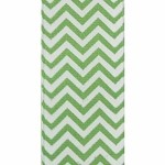 Apple Green Chevron Grosgrain Ribbon, 1-1/2
