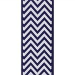 Navy Chevron Grosgrain Ribbon, 1-1/2