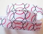 Baseball Grosgrain Ribbon, 7/8