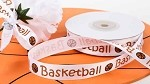 Basketball Satin Ribbon, 5/8