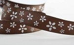 Chocolate Flowers on Satin Ribbon, 5/8