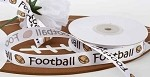 Football Satin Ribbon, 5/8