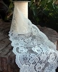 Ivory Chantilly Lace Ribbon, 6