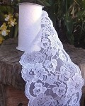 White Chantilly Lace Ribbon, 6
