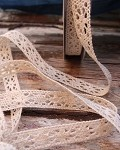 Ivory Cotton Crochet Lace Ribbon, 1/2