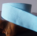 Light Blue Chevron Herringbone Cotton Ribbon, 1-1/2