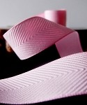 Pink Chevron Herringbone Cotton Ribbon, 1-1/2