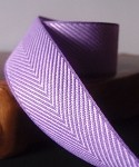 Lavender Chevron Herringbone Cotton Ribbon, 1-1/2