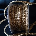 Gold Jewelry Cord, 5mm x 25 yards