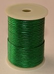 Green Metallic Non-Elastic Cord, 50 feet