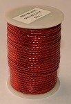 Red Metallic Non-Elastic Cord, 50 feet