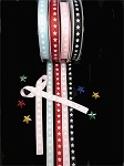 Stars (Light Blue) Ribbon, 3/8