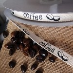 Coffee Bean Cotton Ribbon, 3/8
