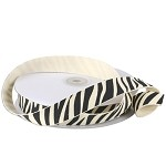 Zebra Print Cotton Ribbon, 25 yards