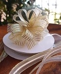 Metallic Gold Corsage Pull Ribbon, 5/8