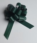 Hunter Green Faux Paper Pull Bows