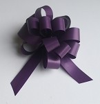 Plum Faux Paper Pull Bows