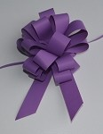Purple Faux Paper Pull Bows