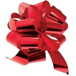 Red Metallic Pull Bows