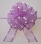 Lavender Organza Pull Bow with Satin Edge, 12 individually packed bows