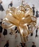 Cream Organza Pull Bow with Satin Edge, 12 individually packed bows