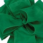 Forest Green Wired Anisha Ribbon