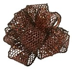 Chocolate Wired Laced Up Ribbon, 1-1/2
