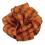 Wired Pumpkin Spice Ribbon, 2.5