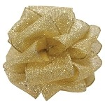 Gold Wired Shake Up Ribbon, 2-1/2