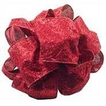 Red Wired Metallic Glitterific Ribbon, 4
