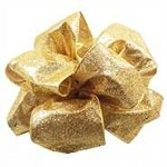 Gold Wired Metallic Glitterific Ribbon, 4