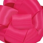 Fuchsia Wired Double Face Satin Ribbon, 25 yards