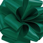 Hunter Green Wired Double Face Satin Ribbon, 25 yards