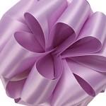Orchid Wired Double Face Satin Ribbon, 25 yards