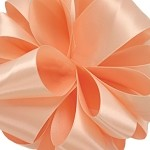 Peach Wired Double Face Satin Ribbon, 5/8 inch x 25 yards