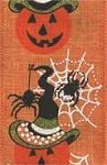 Wired Halloween Hallokin Ribbon, Orange, Green, Black Glitter Ribbon, 2.5