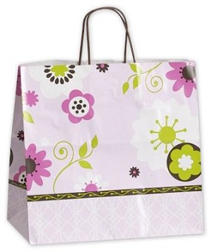 "Bakery Dots Shopper Bags (PANTHER, (13"" x 7"" x 12.5""), 100 bags"