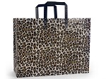 Leopard Printed Frosted Shopper Bags (16
