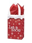 Let It Snow Printed Frosted Shopper Bags (5