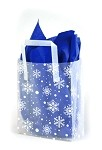 Snowflake Printed Frosted Shopper Bags (5