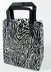 Zebra Printed Frosted Shopper Bags (16