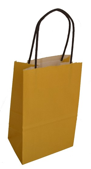 "Mustard Petite Colored Shoppers  (ROSE, 5.25"" x 3.25"" x 8.25"")"